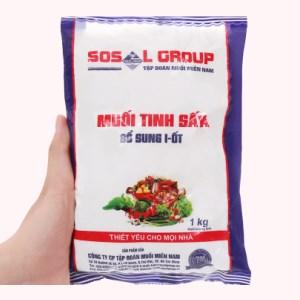Muối tinh sấy bổ sung i-ốt Sosal Group gói 1kg