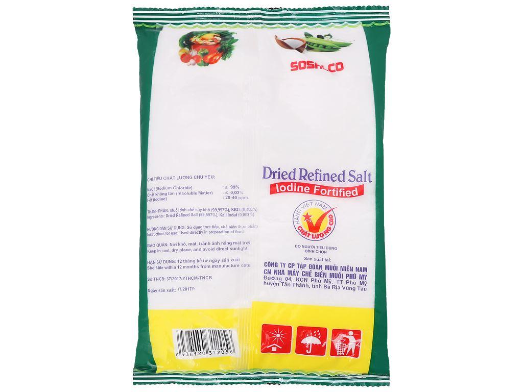 Muối tinh chế sấy bổ sung i-ốt Sosalco gói 1kg 3