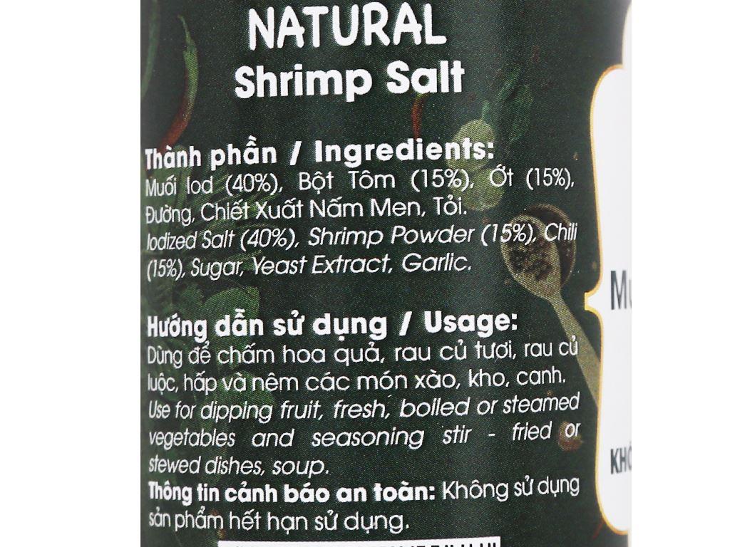 Muối tôm Tây Ninh Dh Foods Natural hũ 110g 5