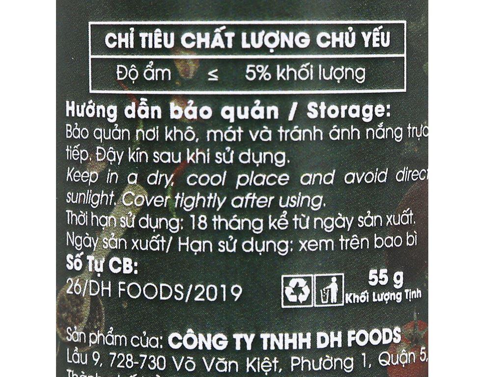 Muối tôm Tây Ninh Dh Foods Natural hũ 55g 4