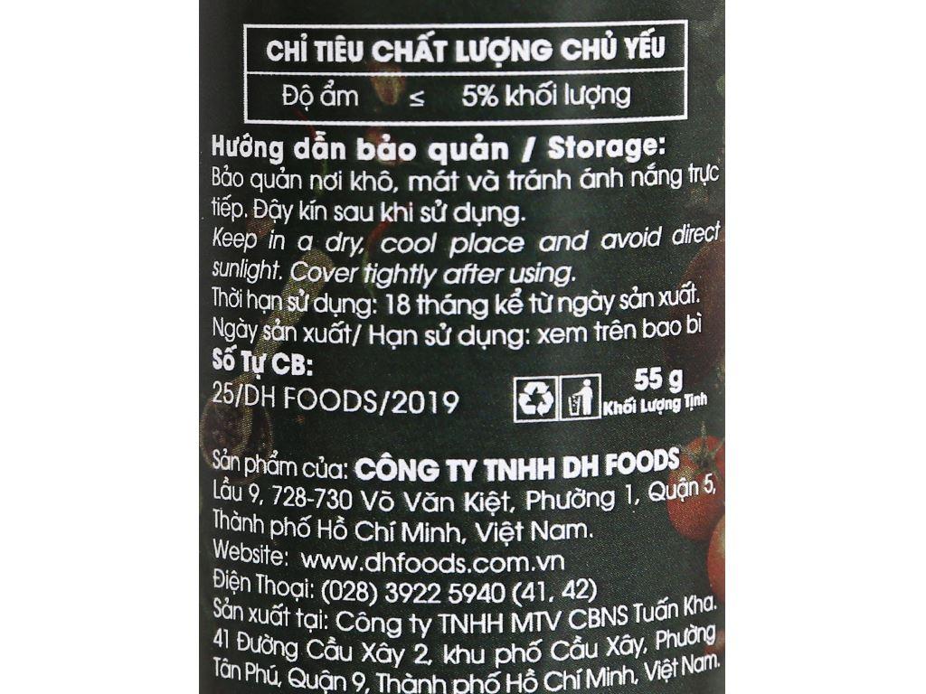 Muối ớt Tây Ninh Dh Foods Natural hũ 55g 4