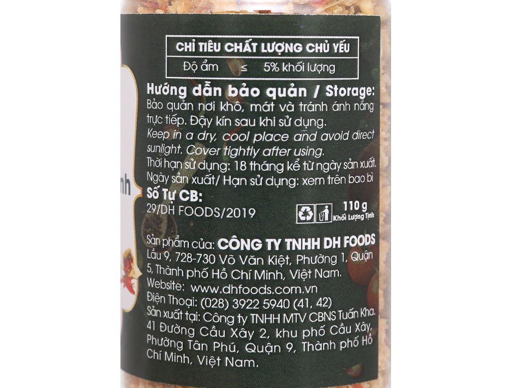 Muối sả ớt Tây Ninh Dh Foods Natural hũ 110g 4