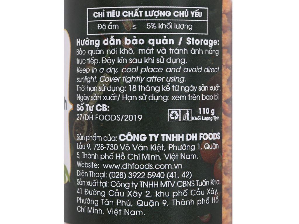 Muối ớt chay Tây Ninh Dh Foods Natural hũ 110g 3