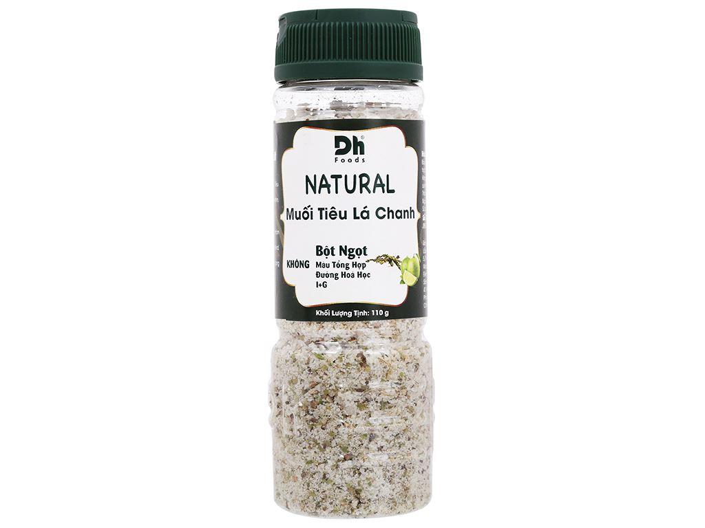 Muối tiêu lá chanh Dh Foods Natural hũ 110g 1