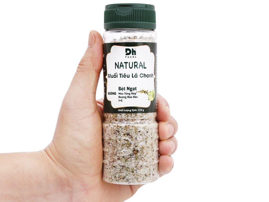 Muối tiêu lá chanh Dh Foods Natural hũ 110g 6