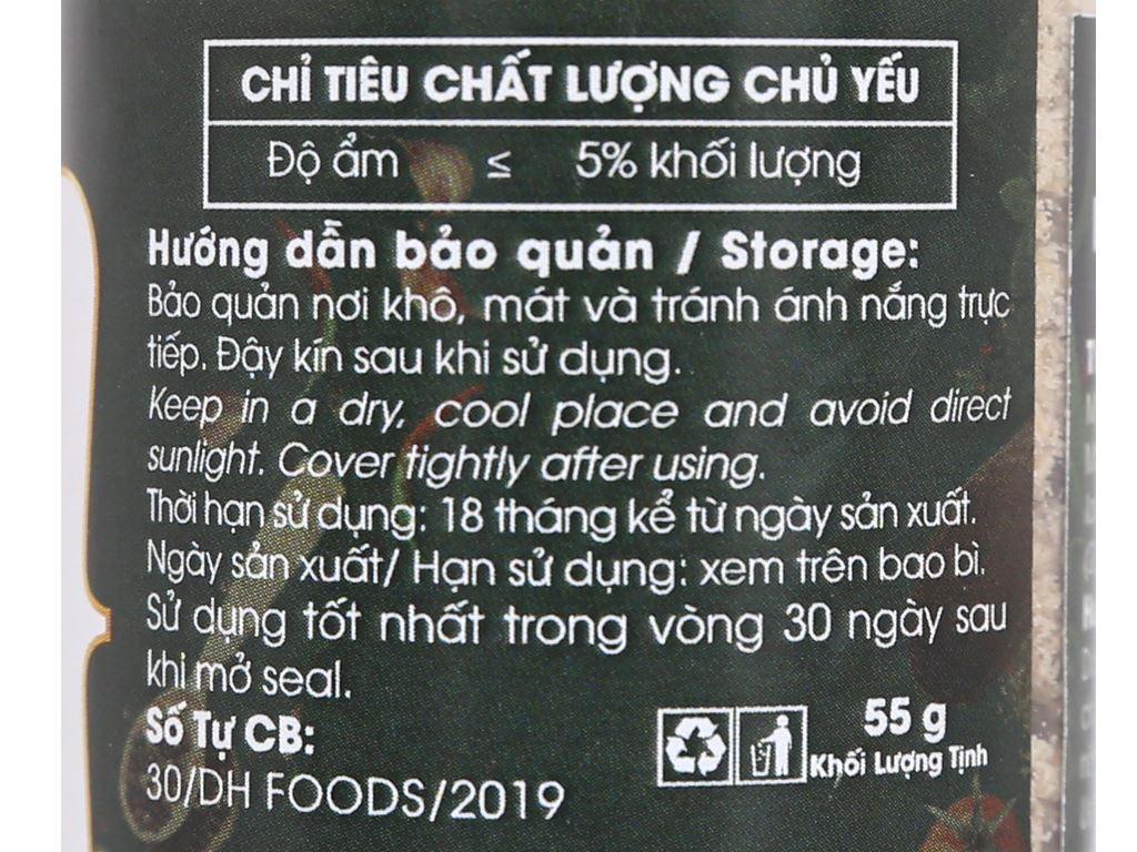 Muối tiêu sả Dh Foods Natural hũ 55g 3