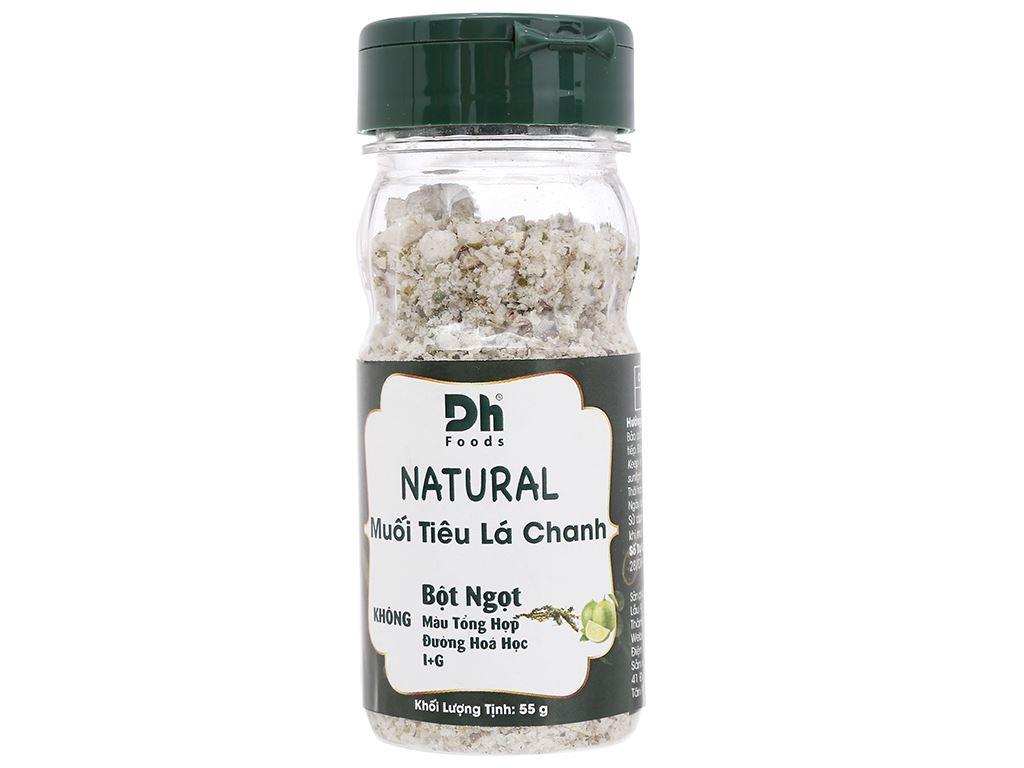 Muối tiêu lá chanh Dh Foods Natural hũ 55g 1