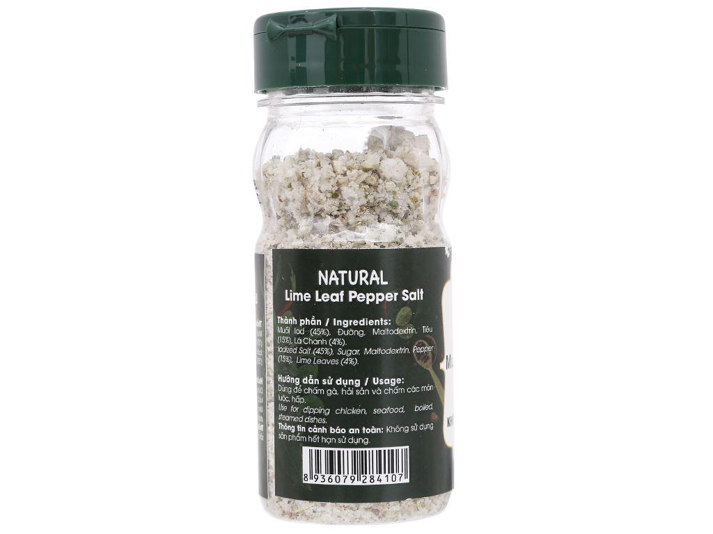 Muối tiêu lá chanh Dh Foods Natural hũ 55g 2