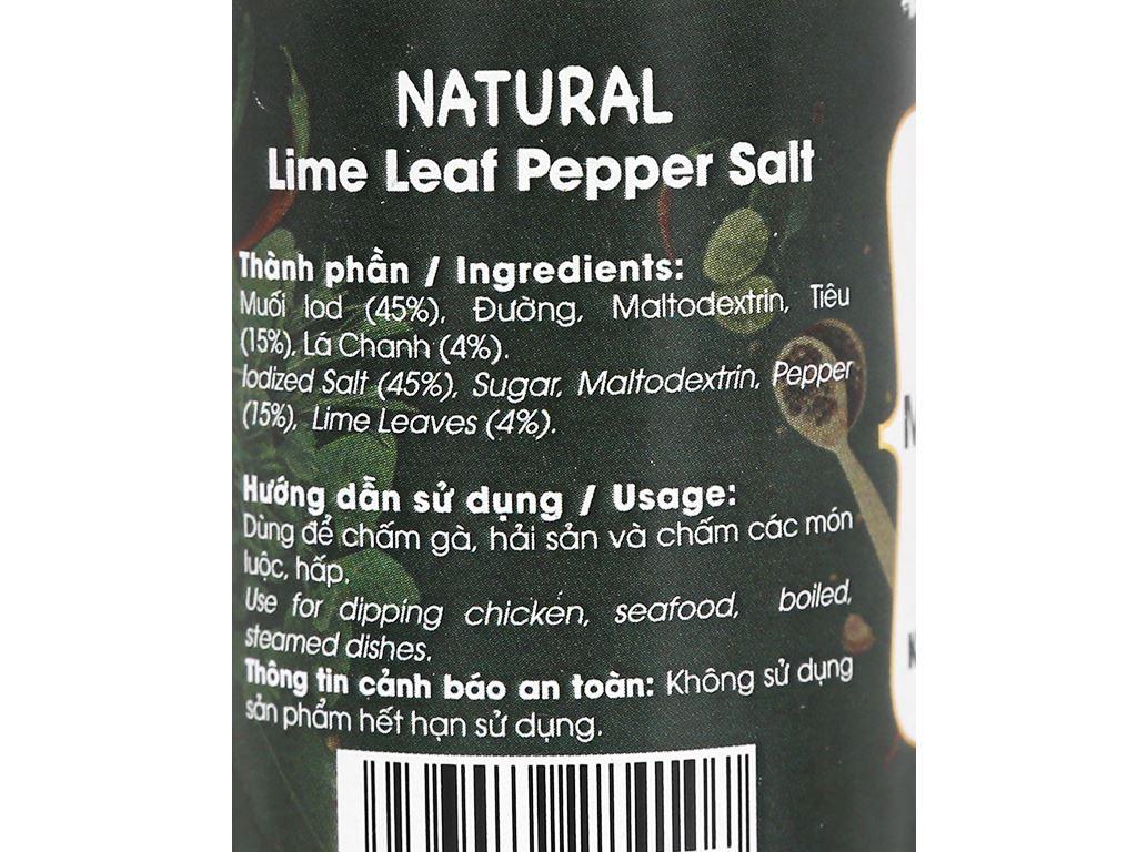 Muối tiêu lá chanh Dh Foods Natural hũ 55g 4