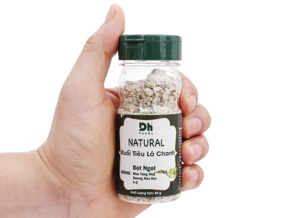 Muối tiêu lá chanh Dh Foods Natural hũ 55g 6
