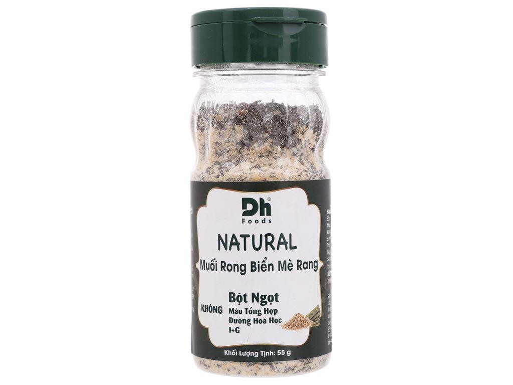 Muối rong biển mè rang Dh Foods Natural hũ 55g 1