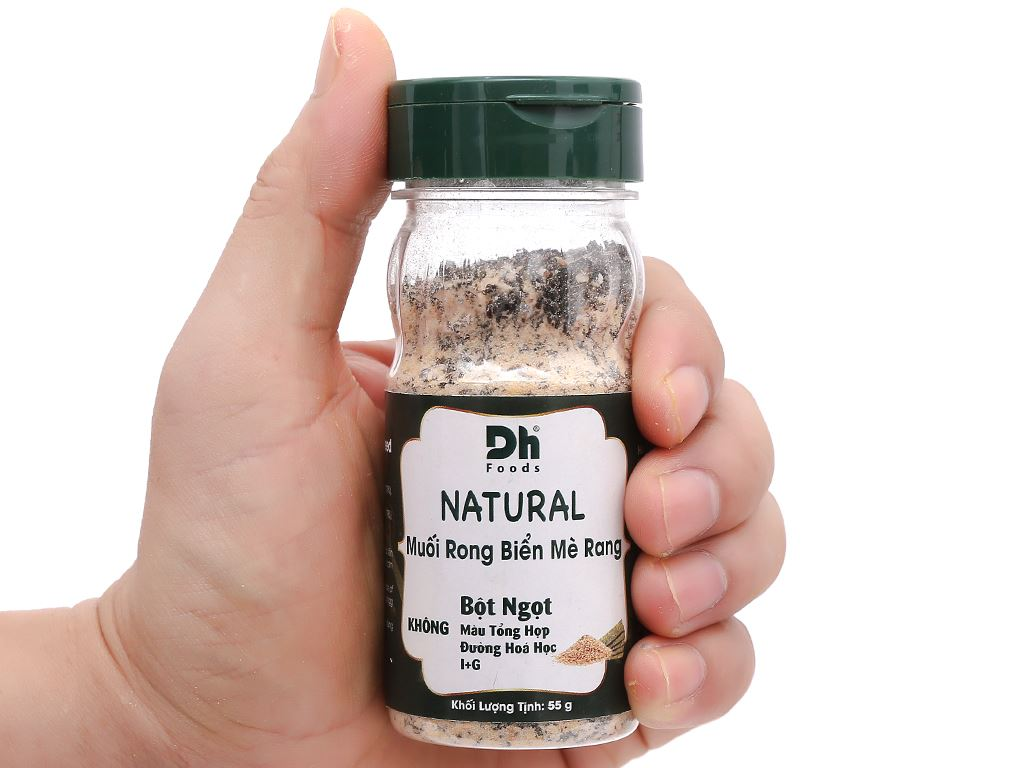 Muối rong biển mè rang Dh Foods Natural hũ 55g 6