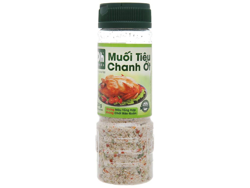 Muối tiêu chanh ớt Dh Foods hũ 120g 1