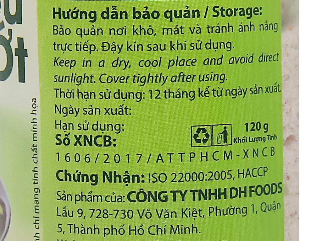 Muối tiêu chanh ớt Dh Foods hũ 120g 5