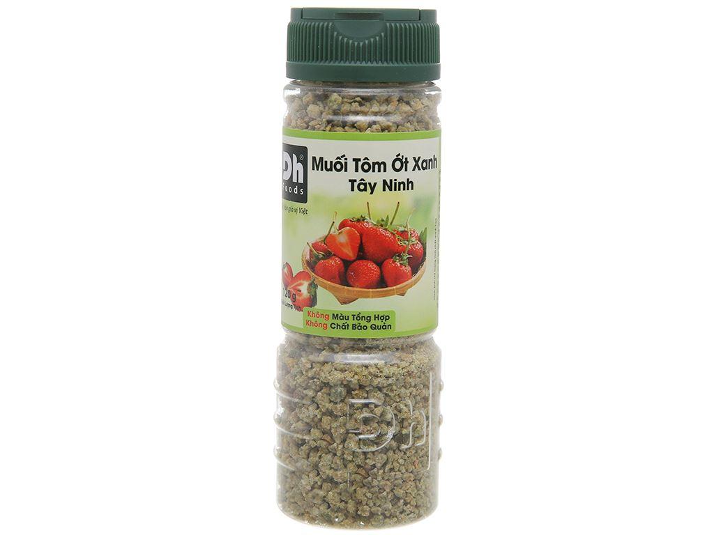 Muối tôm ớt xanh Tây Ninh Dh Foods hũ 120g 1