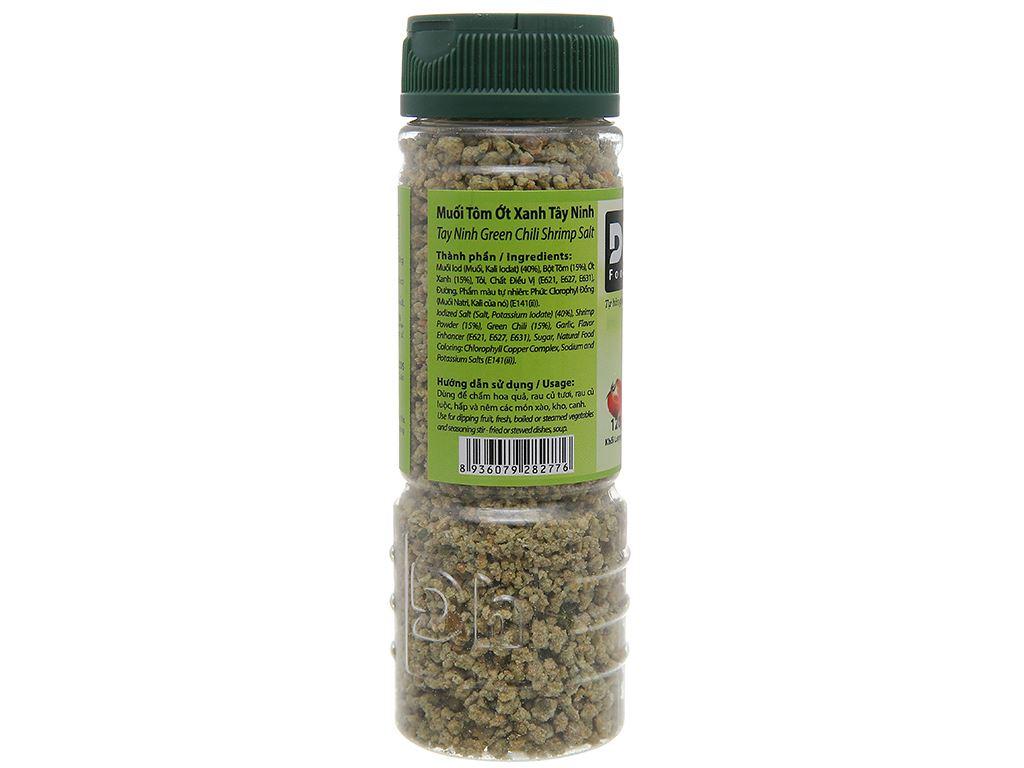 Muối tôm ớt xanh Tây Ninh Dh Foods hũ 120g 3