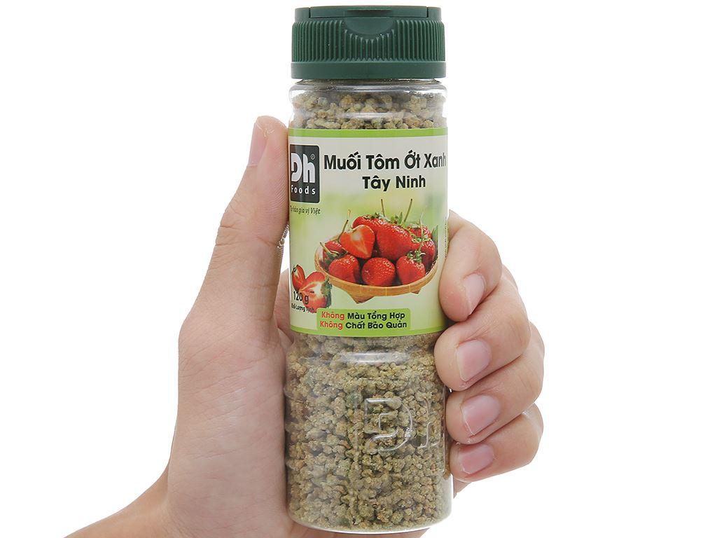 Muối tôm ớt xanh Tây Ninh Dh Foods hũ 120g 8
