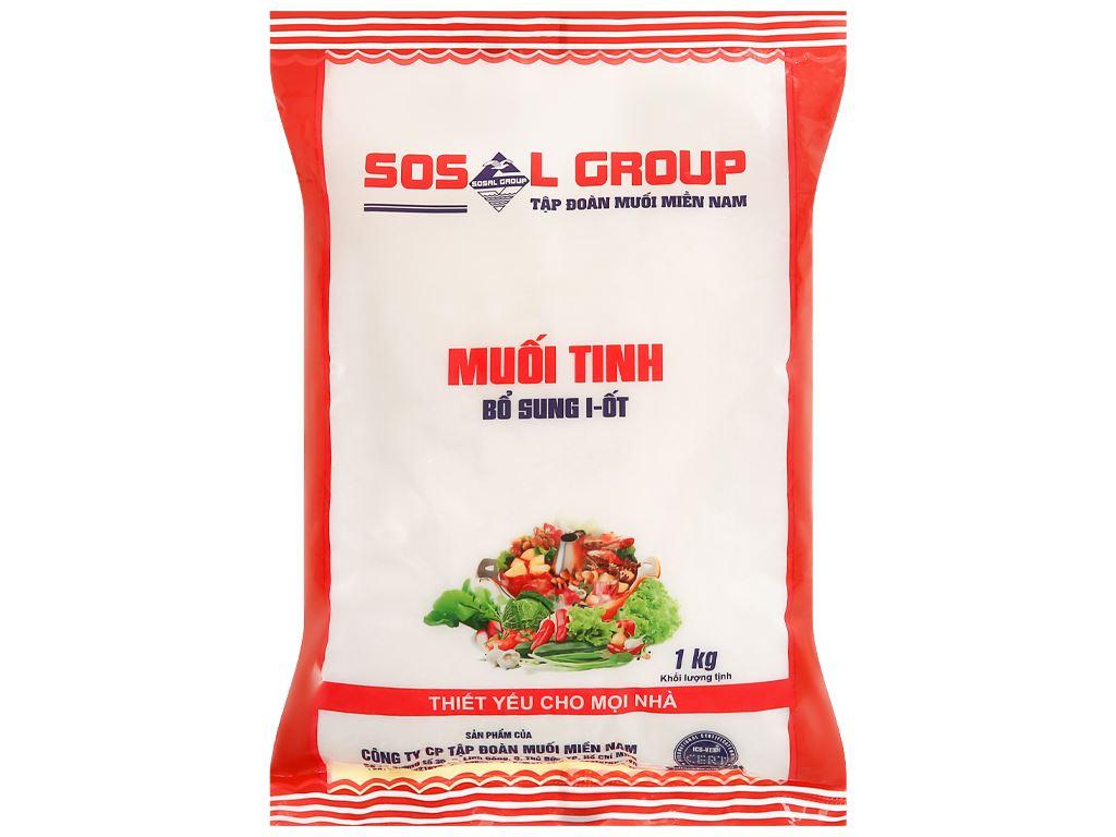 Muối tinh bổ sung i-ốt Sosal Group gói 1kg 1