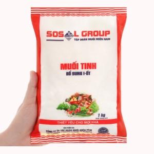 Muối tinh bổ sung i-ốt Sosal Group gói 1kg