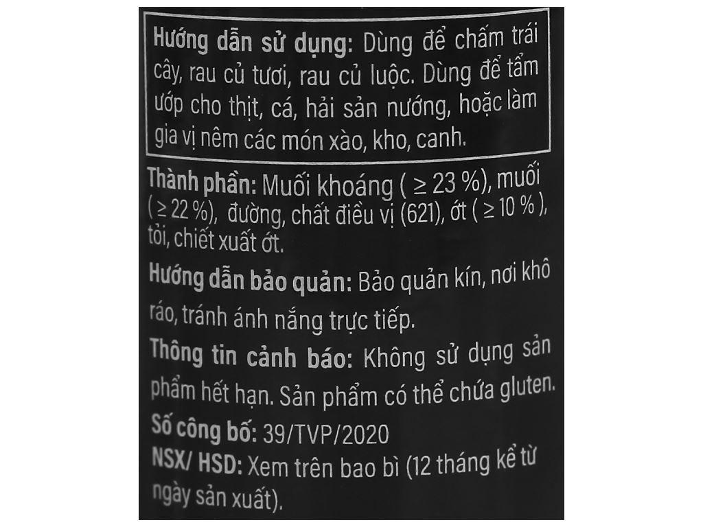 Muối ớt kiểu Tây Ninh Guyumi chai 60g 4