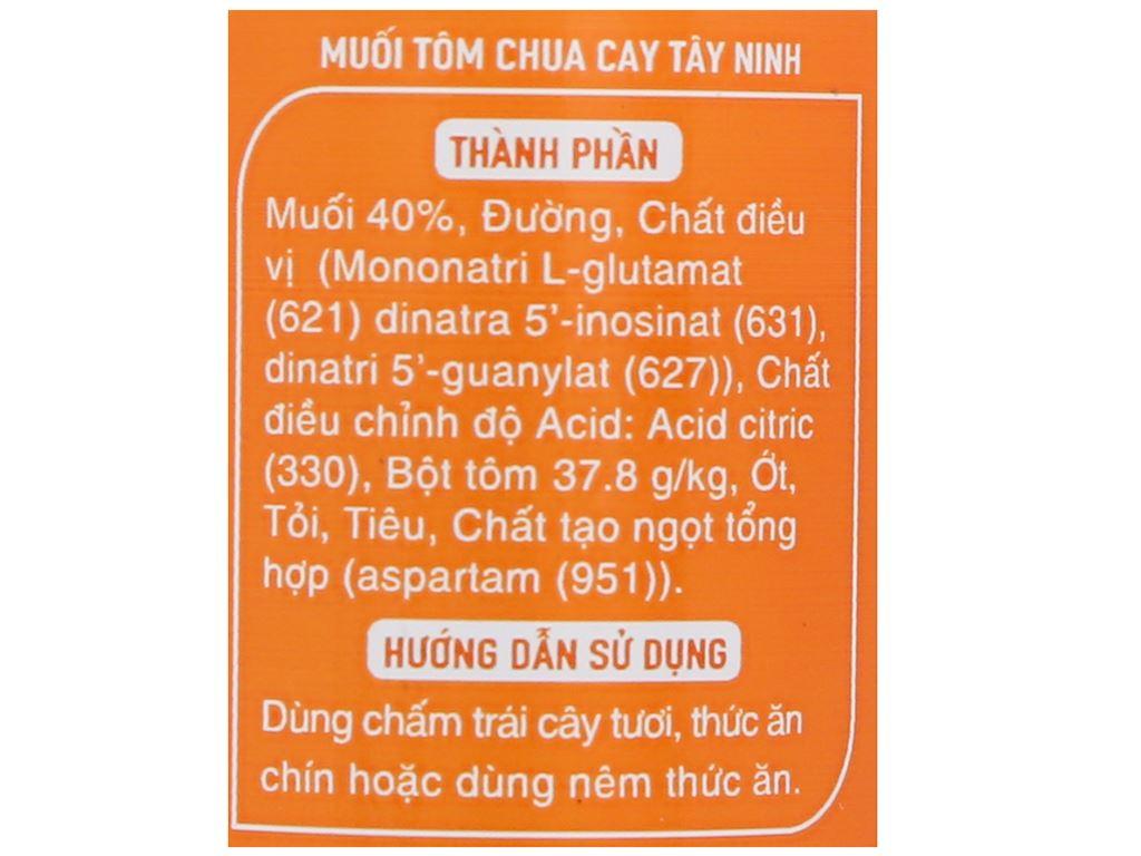Muối tôm chua cay Tây Ninh Tinh Nguyên hũ 110g 5