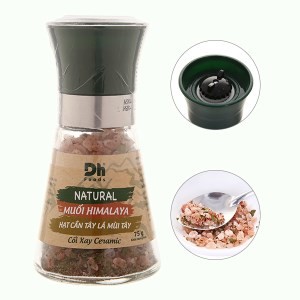 Muối Himalaya hạt cần tây lá mùi tây Dh Foods nắp cối xay hũ 75g