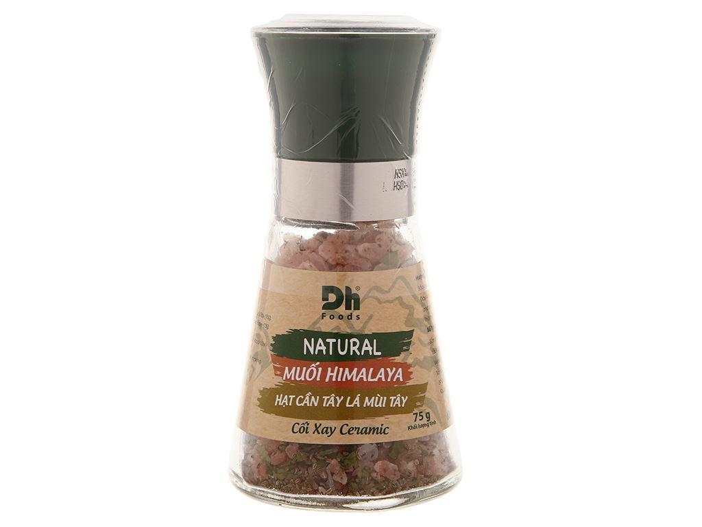 Muối Himalaya hạt cần tây lá mùi tây Dh Foods nắp cối xay hũ 75g 1