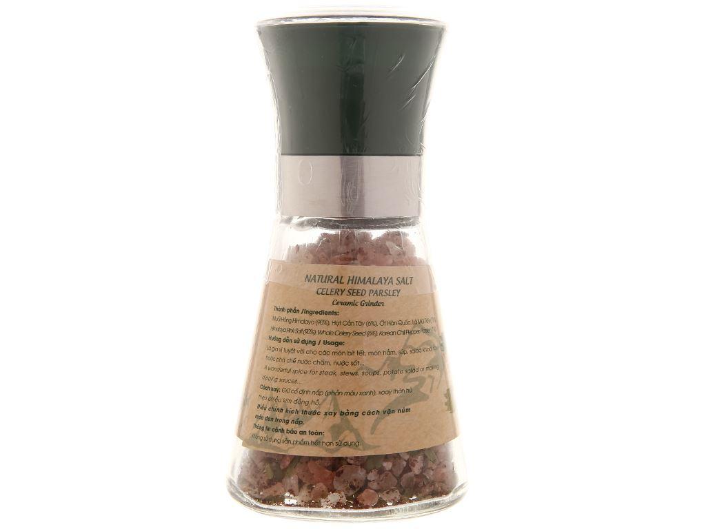 Muối Himalaya hạt cần tây lá mùi tây Dh Foods nắp cối xay hũ 75g 3