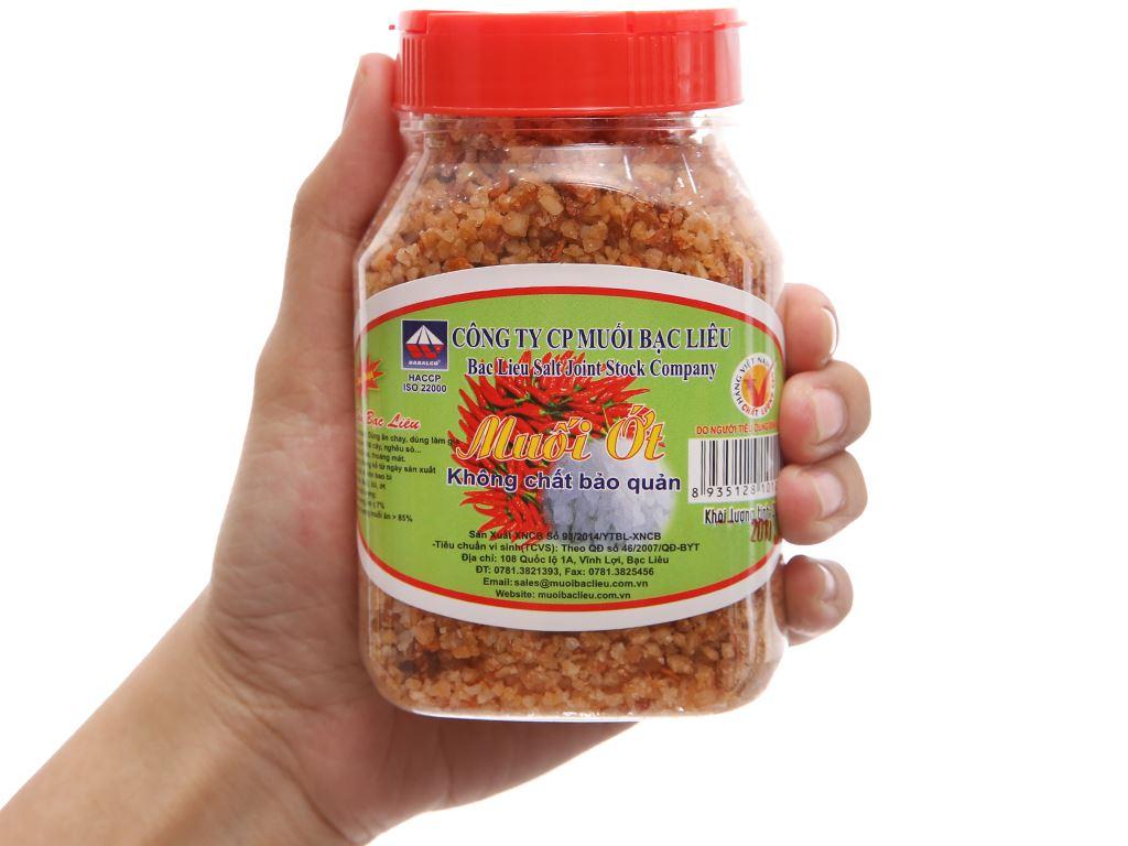 Muối ớt Bạc Liêu hũ 200g 2