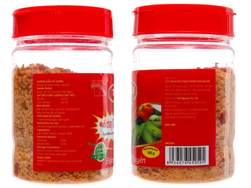 Muối chay cà rốt Tinh Nguyên hũ 100g 2