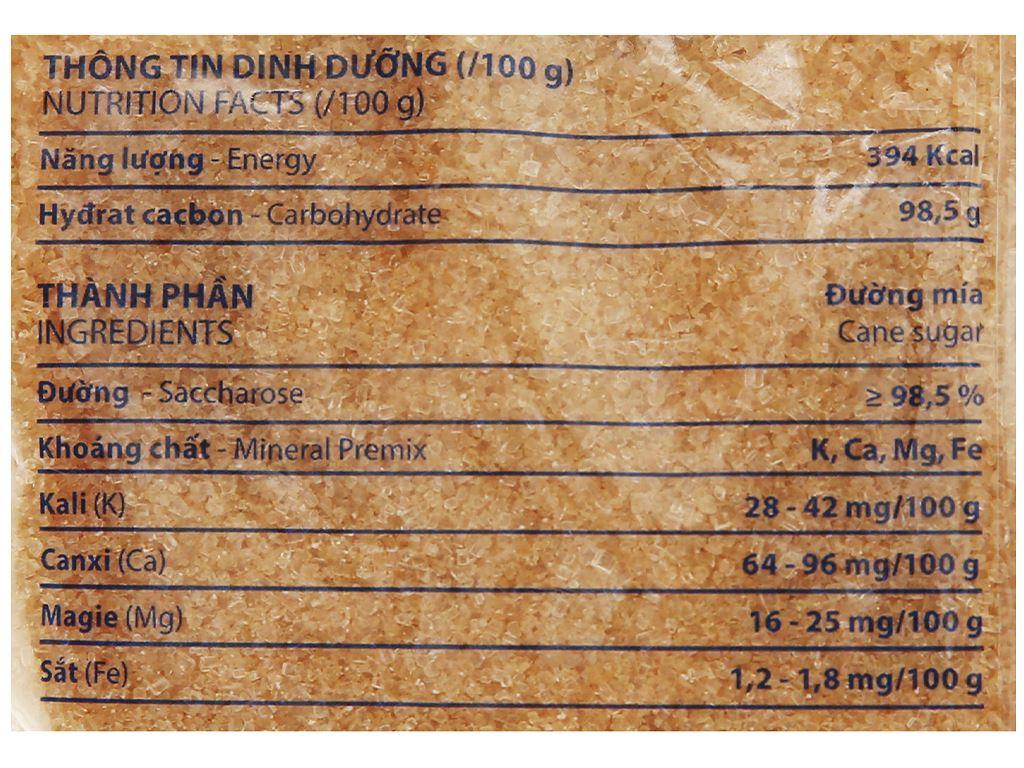 Đường mía khoáng chất Biên Hòa gói 1kg 7