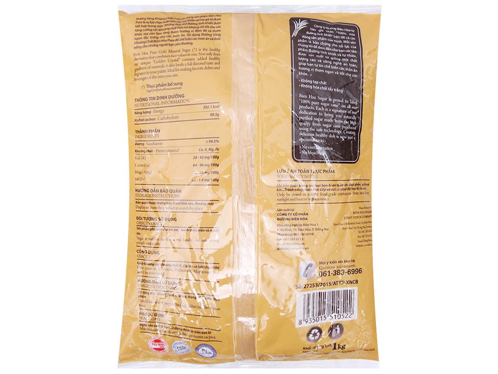Đường vàng khoáng chất Biên Hòa Pure gói 1kg 2