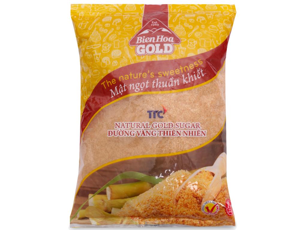 Đường vàng thiên nhiên Biên Hòa Gold gói 1kg 1