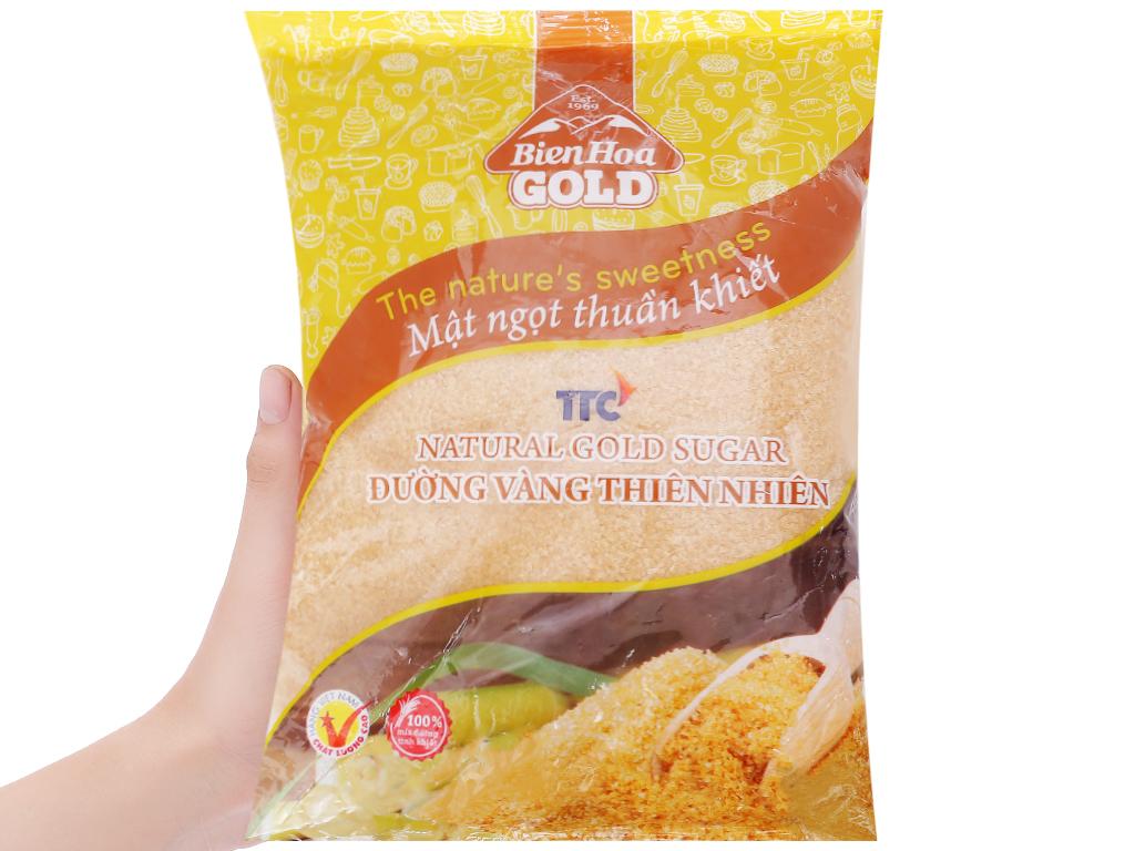 Đường vàng thiên nhiên Biên Hòa Gold gói 1kg 3