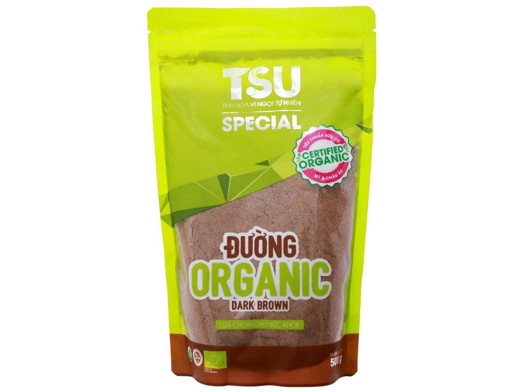Đường nâu Organic TSU Special gói 500g 3