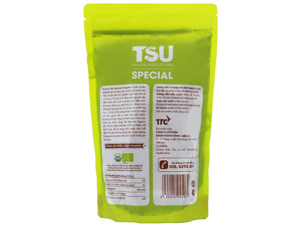 Đường nâu Organic TSU Special gói 500g 4