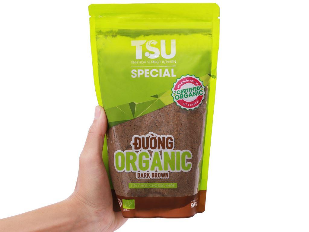 Đường nâu Organic TSU Special gói 500g 6