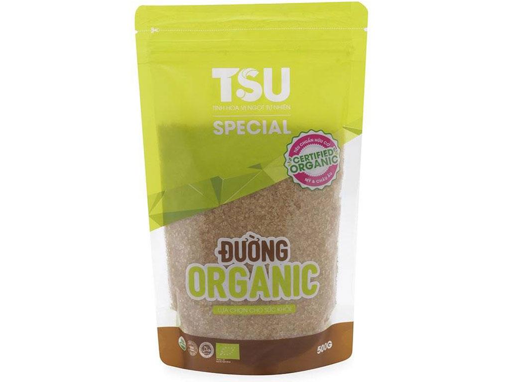 Đường nâu Organic TSU Special gói 500g 1