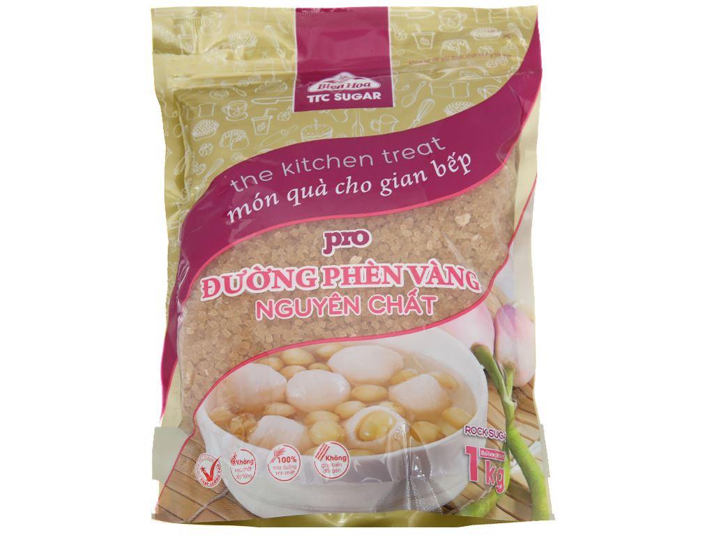 Đường phèn vàng nguyên chất Biên Hòa Pro gói 1kg 1