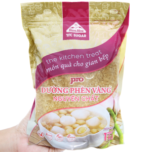 Đường phèn vàng nguyên chất Biên Hòa Pro gói 1kg