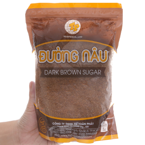 Đường nâu Toàn Phát Dark Brown Sugar gói 1kg