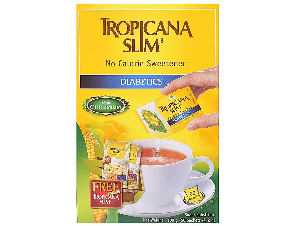 Đường ăn kiêng Tropicana Slim Diabetics hộp 100g (50 gói x 2g) 1