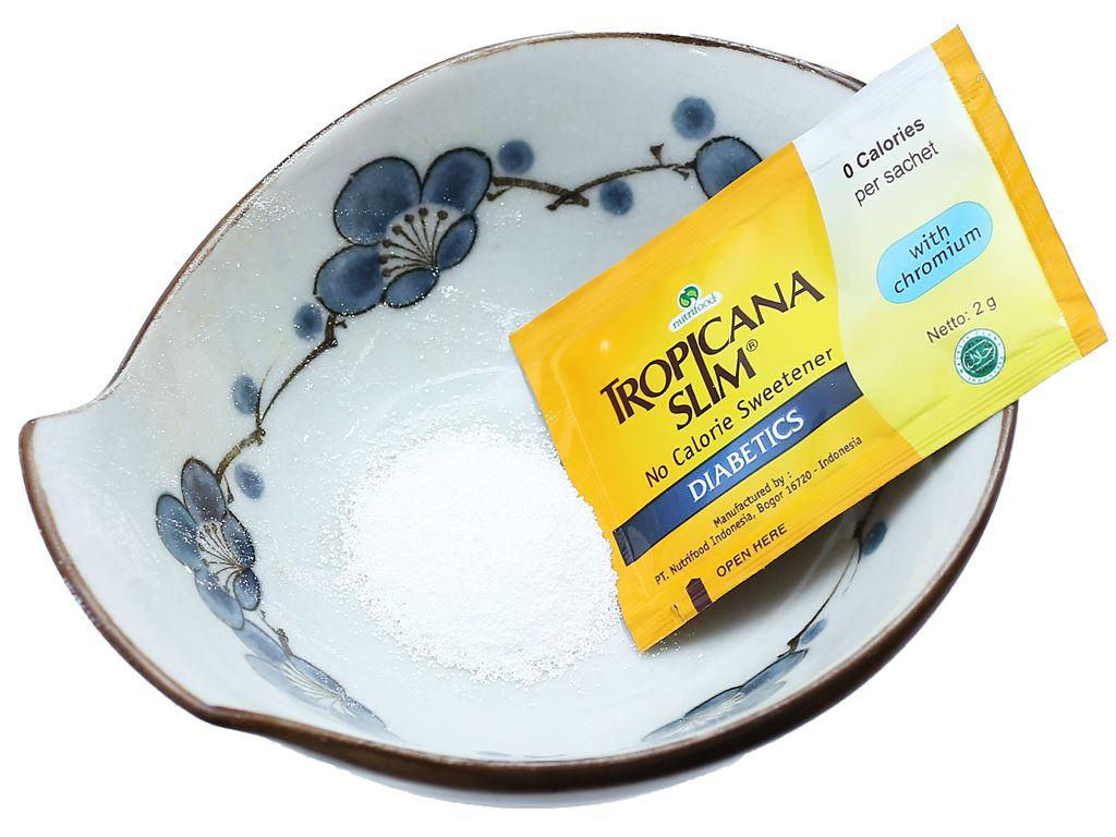 Đường ăn kiêng Tropicana Slim Diabetics hộp 100g (50 gói x 2g) 5