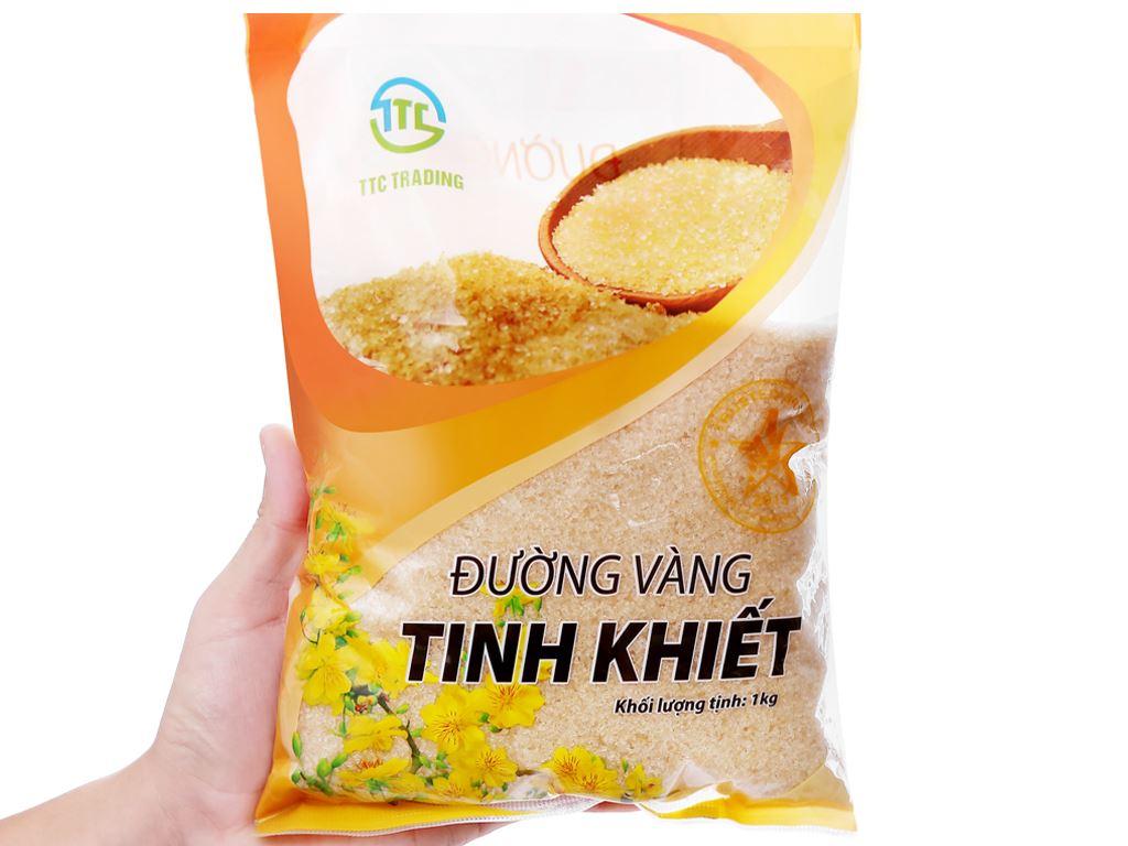 Đường vàng tinh khiết TTC Trading gói 1kg 3