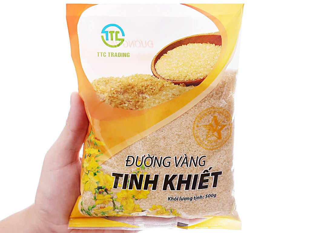 Đường vàng tinh khiết TTC Trading gói 500g 3
