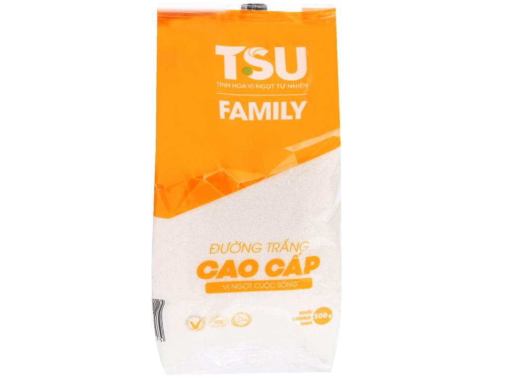 Đường trắng cao cấp TSU Family gói 500g 1