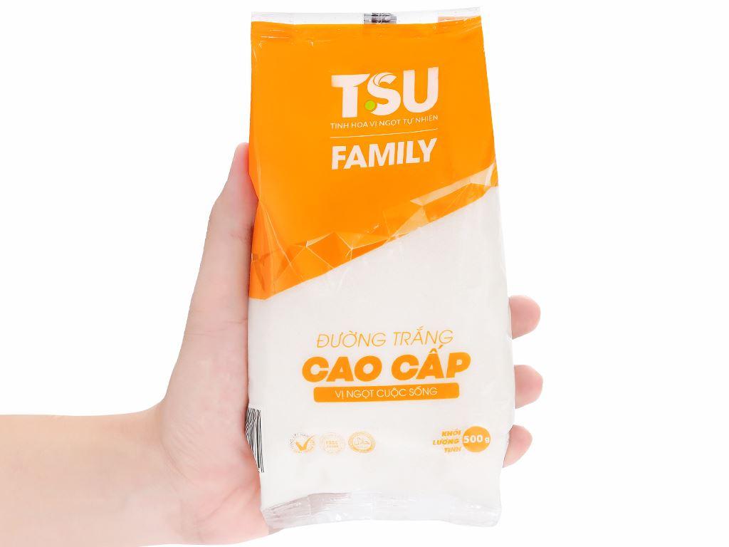 Đường trắng cao cấp TSU Family gói 500g 4