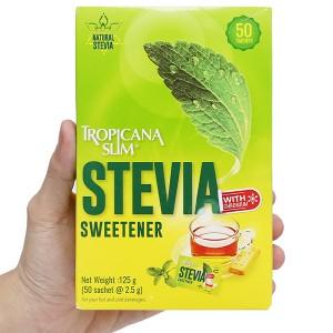Đường lá cỏ ngọt Tropicana Slim Stevia hộp 125g