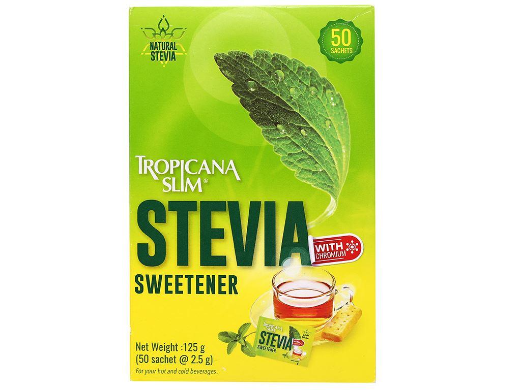 Đường lá cỏ ngọt Tropicana Slim Stevia hộp 125g 1