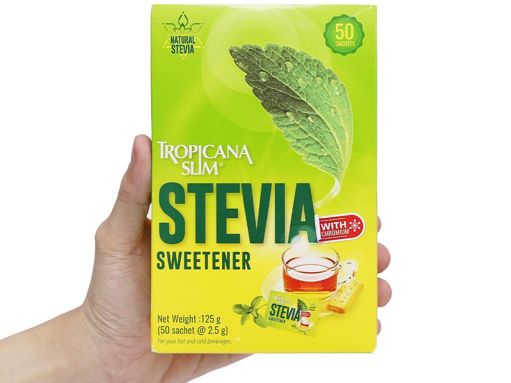Đường lá cỏ ngọt Tropicana Slim Stevia hộp 125g 3